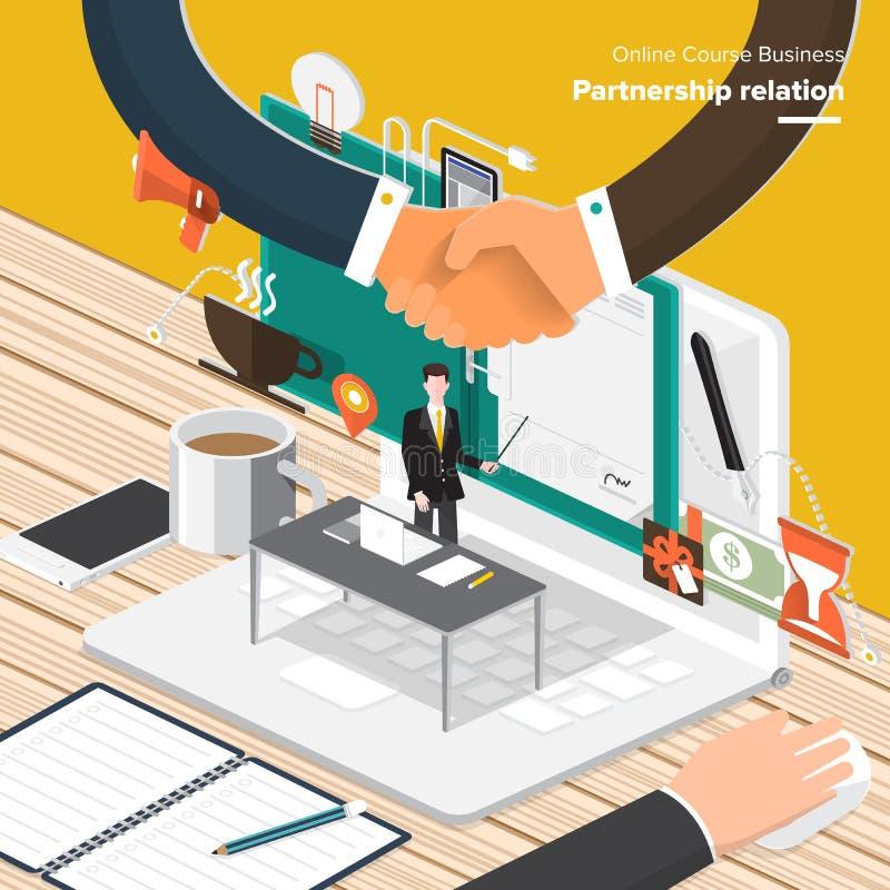 Online Course Business vector illustration