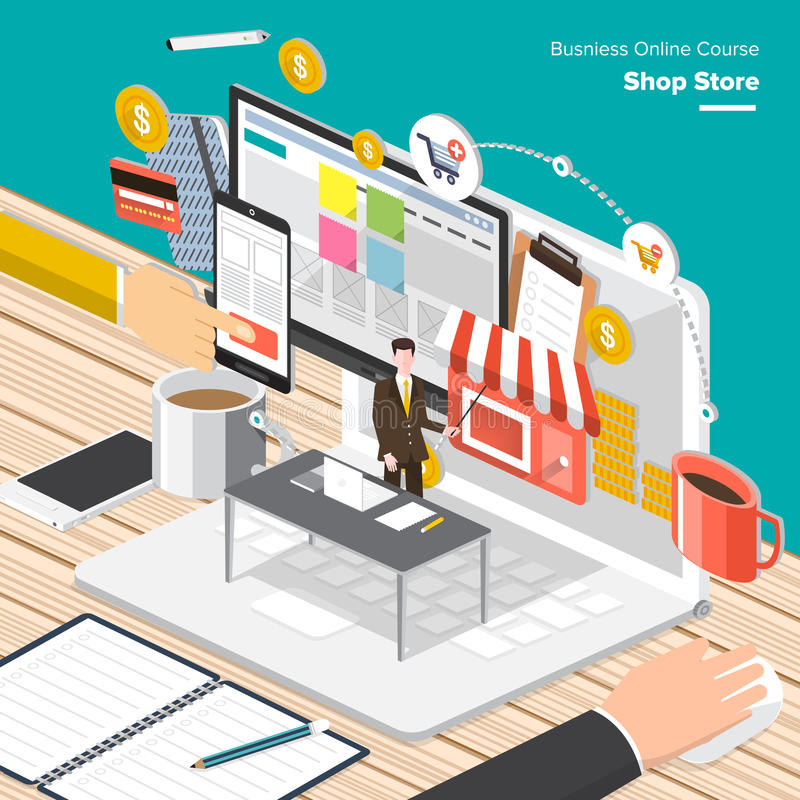 Online Course Business royalty free illustration