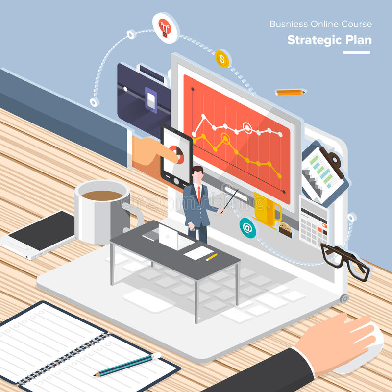 Online Course Business stock illustration