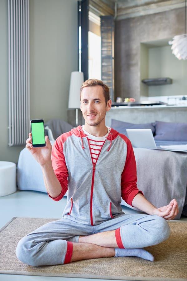 Online cursus van yoga royalty-vrije stock fotografie