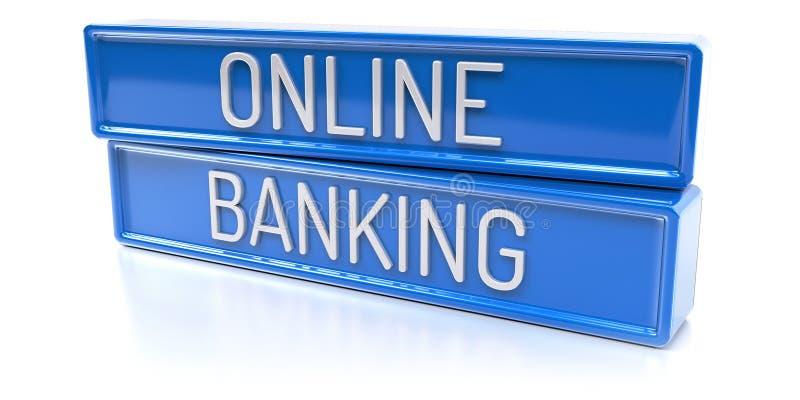 Online 3D Bankwezen - geef terug vector illustratie