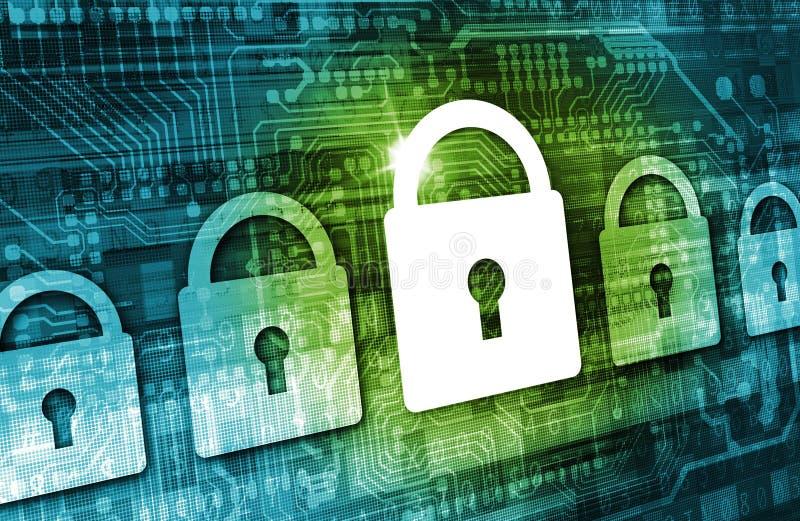 Online dane ochrony pojęcie ilustracja wektor