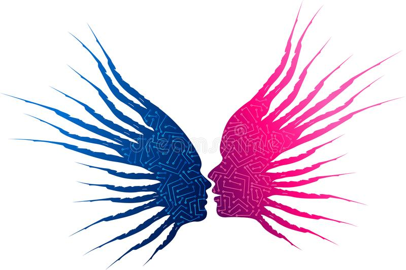 Online dating logo vector illustration