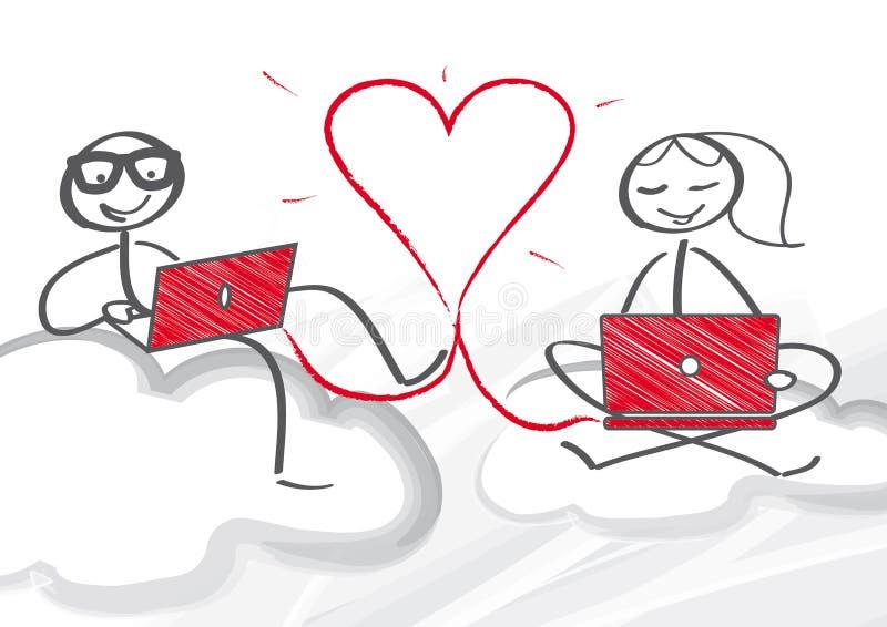 Online dating vector illustration