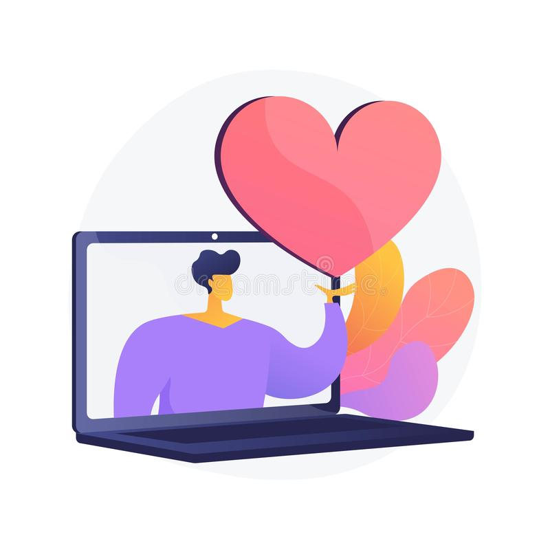 Online dating website vector concept metaphor stock illustration