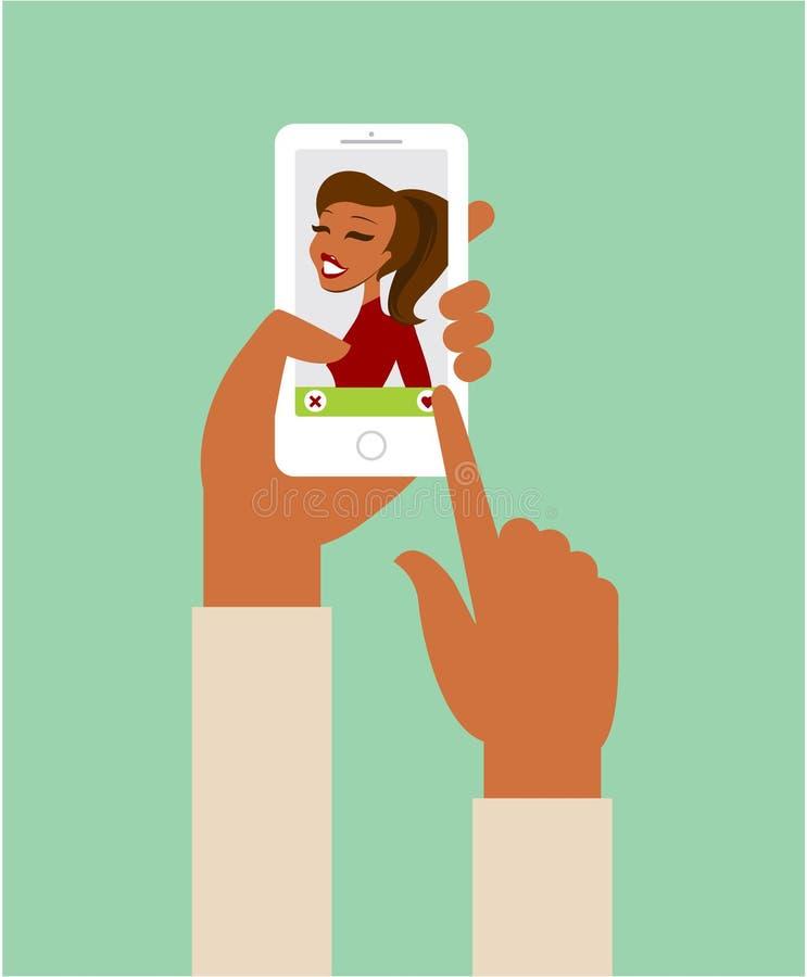 Online datuje app pojęcie ilustracja wektor