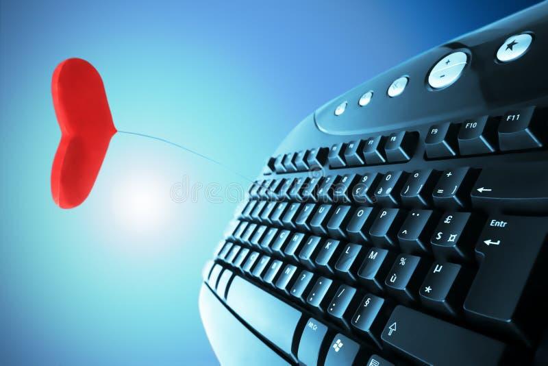 Online de Liefde van het concept royalty-vrije stock afbeelding
