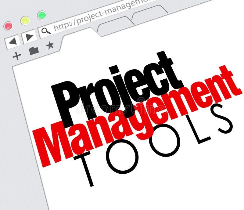 Online de Websitemiddel van Projectleidingshulpmiddelen stock illustratie