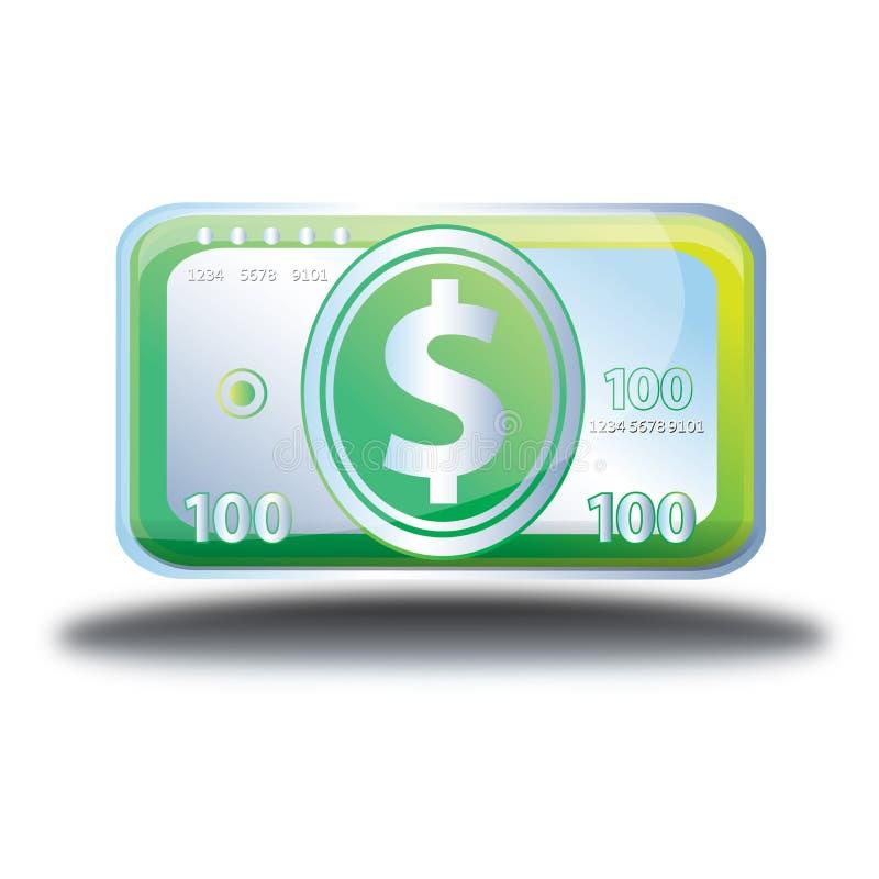 Online de winkelpictogram van het contant geldgeld royalty-vrije stock afbeelding