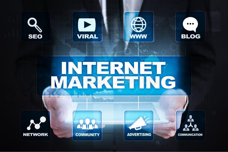 Online, digitaal de marketing van Internet concept SEO Zaken en technologie royalty-vrije stock foto