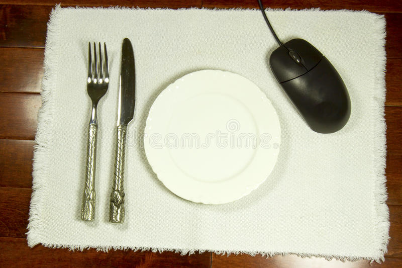 Online Dinner Reservation, Review or Ordering Concept stock images