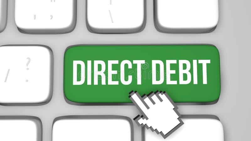 Online direct debit concept vector illustration