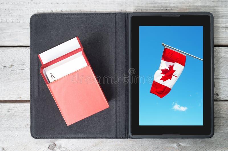 Online-dobbleri i det Kanada begreppet royaltyfri fotografi