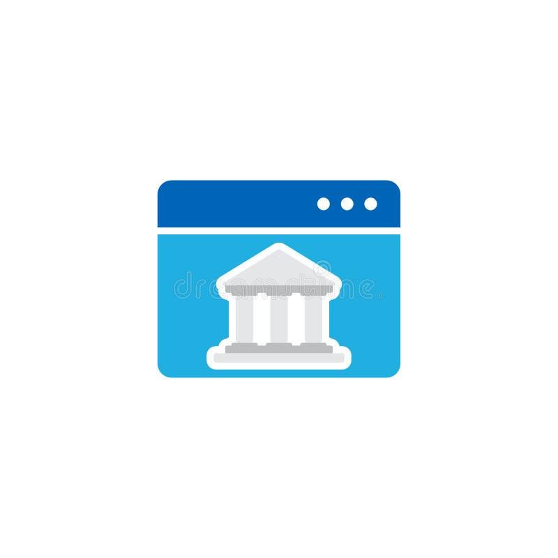 Online-domstol Logo Icon Design vektor illustrationer