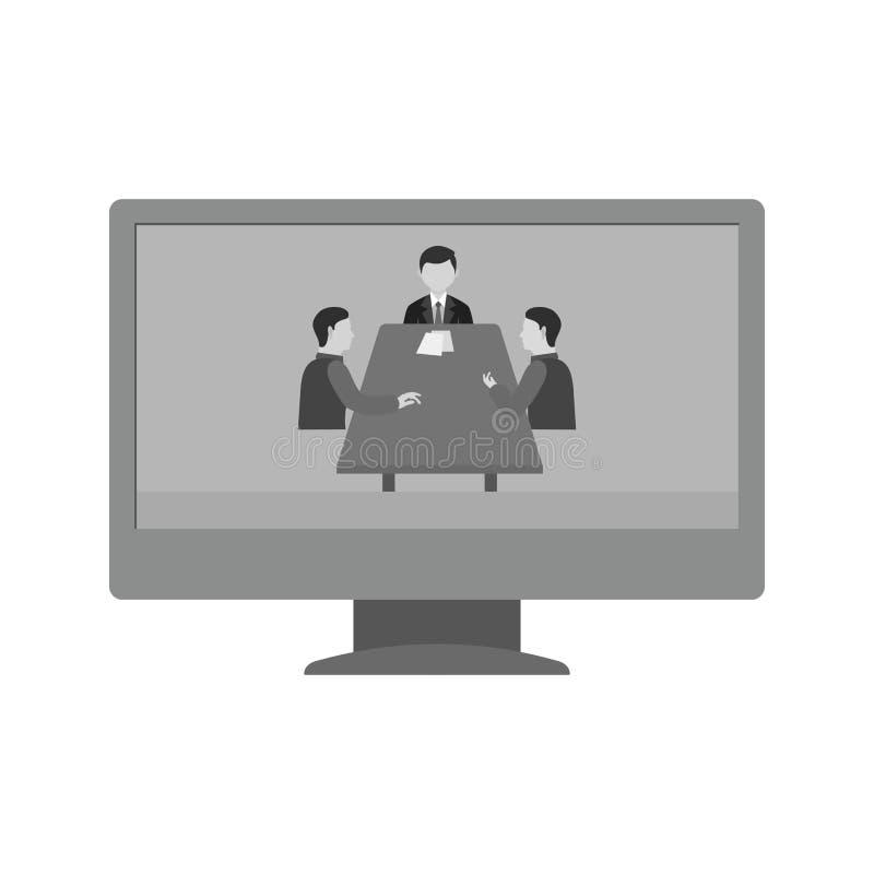 Online dyskusja royalty ilustracja