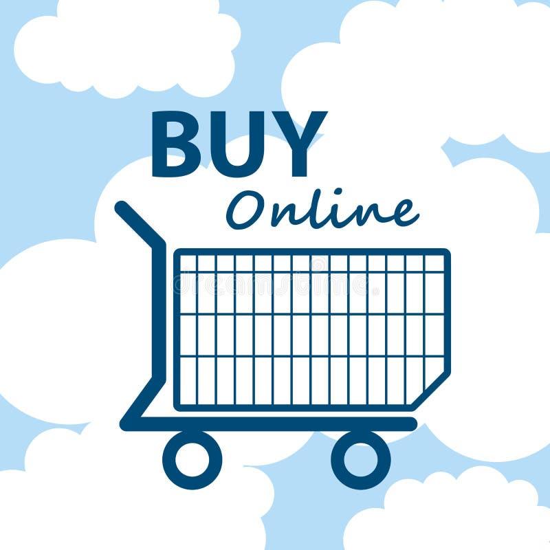 Online-ecommerce för affär för shoppingvagn vektor illustrationer