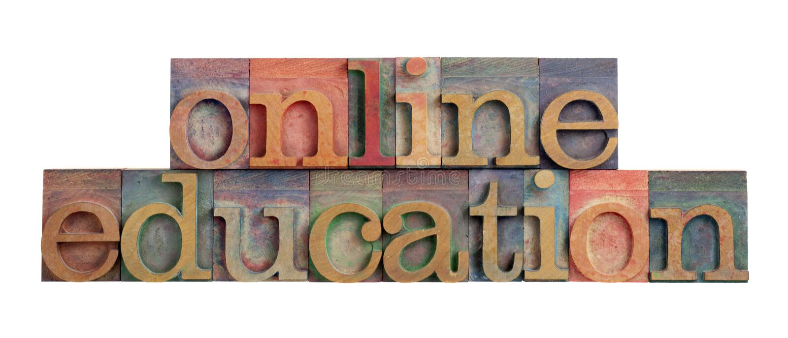 Online education stock photography
