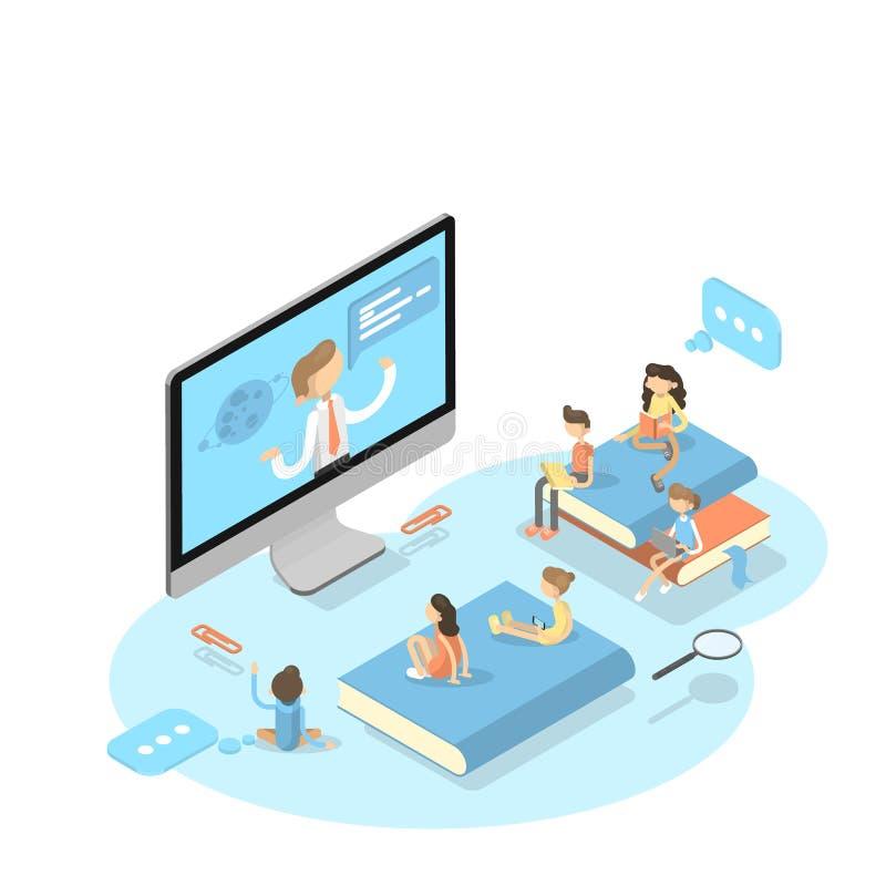 Online education concept. stock illustration