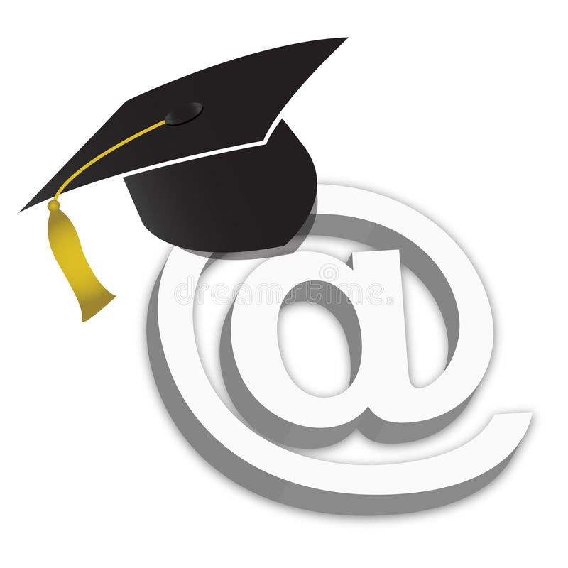 Free Online Education Degrees Grad Hat Royalty Free Stock Photography - 18769677