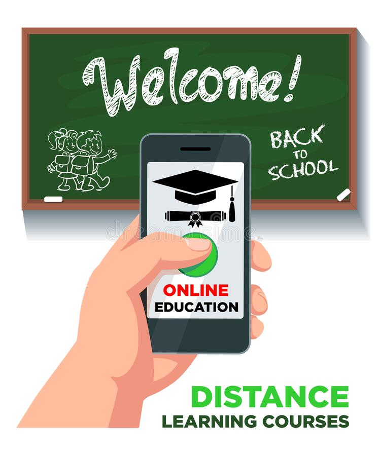 Free Online Education Distance Learning Courses Royalty Free Stock Photos - 179645028