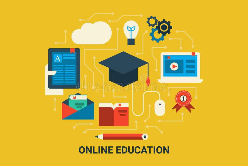 Online Education vector illustration