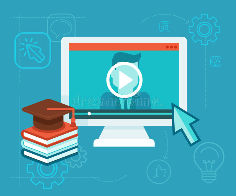 Online education stock illustration