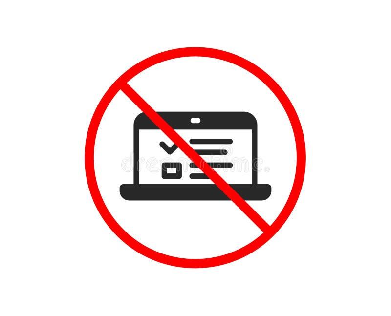 Online edukaci ikona Notatnika znak wektor ilustracja wektor