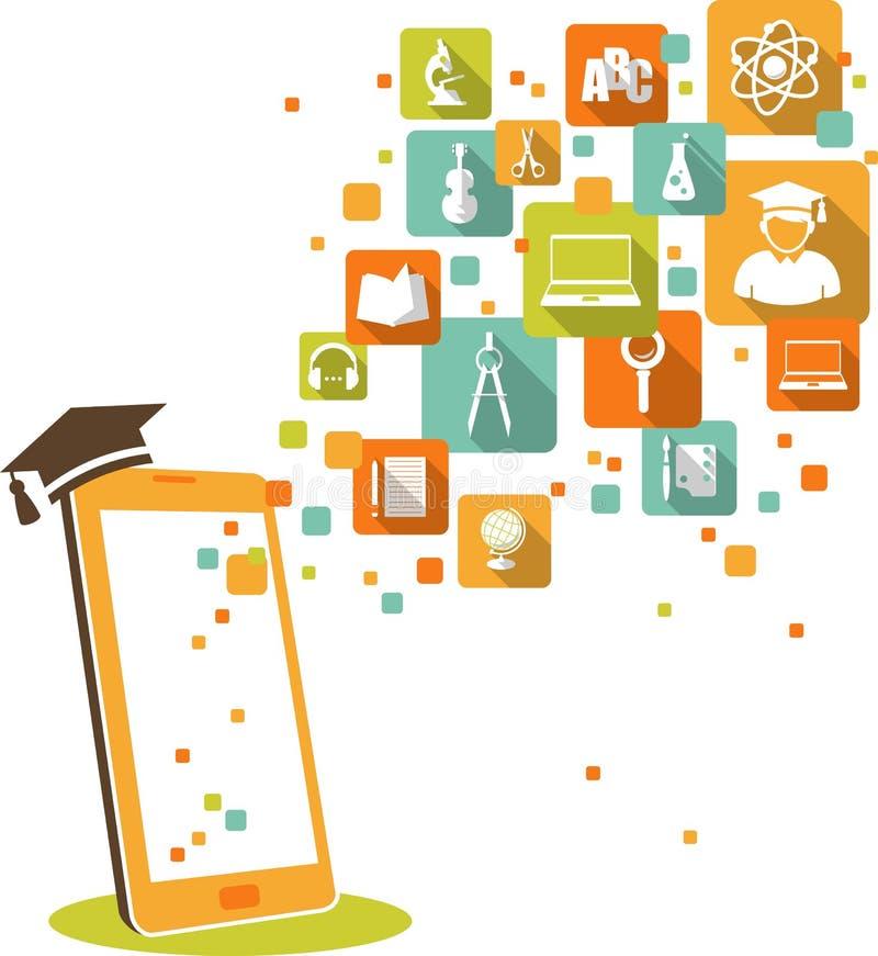 Online edukaci pojęcie ilustracji