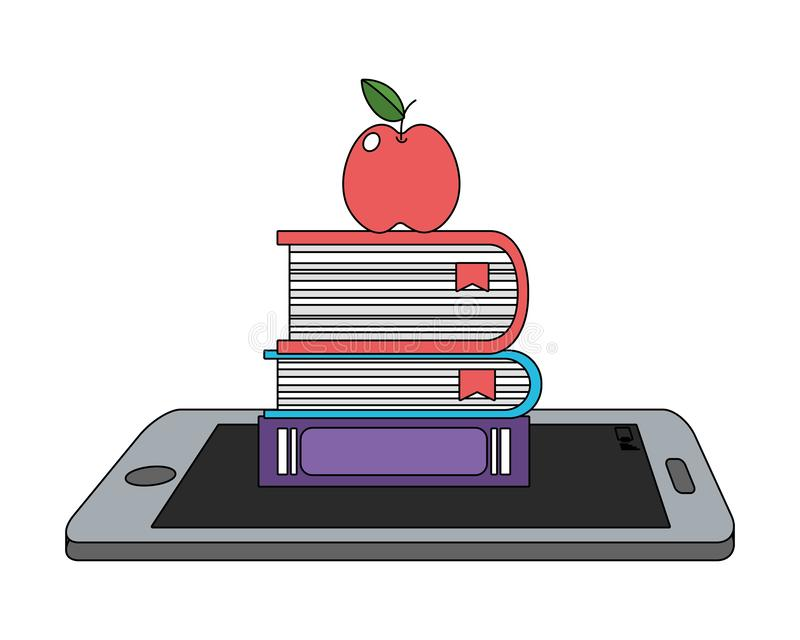 Online edukacja elementów kreskówka ilustracja wektor