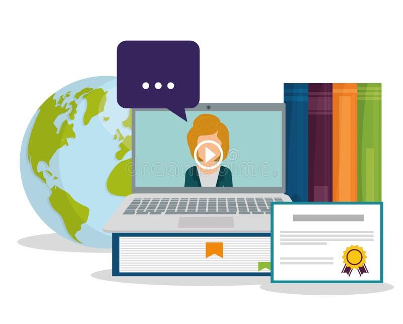 Online edukacja i eLearning ilustracja wektor
