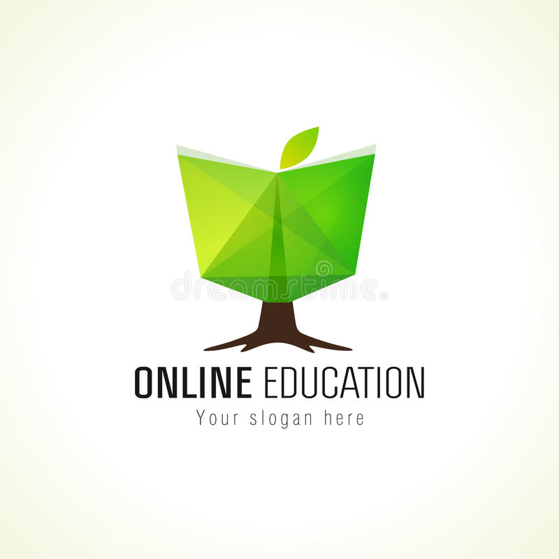 Online edukacja loga książki drzewo