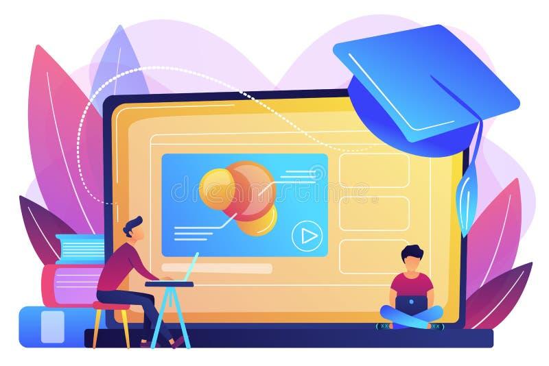 Online edukacji pojęcia wektoru estradowa ilustracja ilustracja wektor