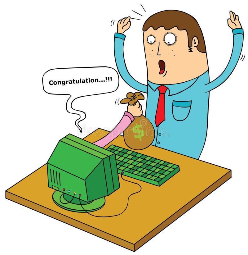 Online enterpreneur royalty ilustracja