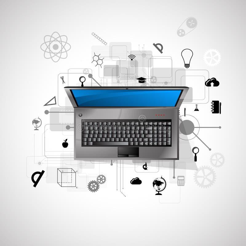 Online erlernend stockbild