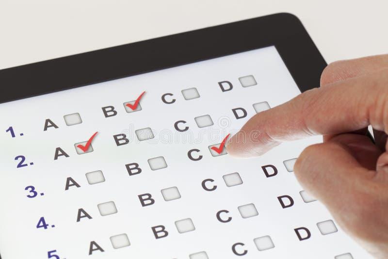 Online examen royalty-vrije stock afbeelding