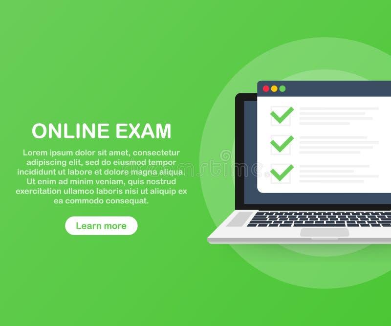 Online-examendatorrengöringsduk app Isometrisk bärbar dator med printing för pappers- dokument från skärmen och telefonen royaltyfri illustrationer