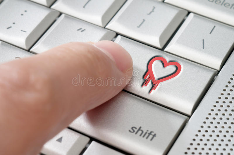 Online exploiting heartbleed bug concept stock photo