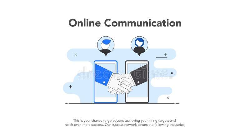 Online-företag för kommunikation två arkivfoto