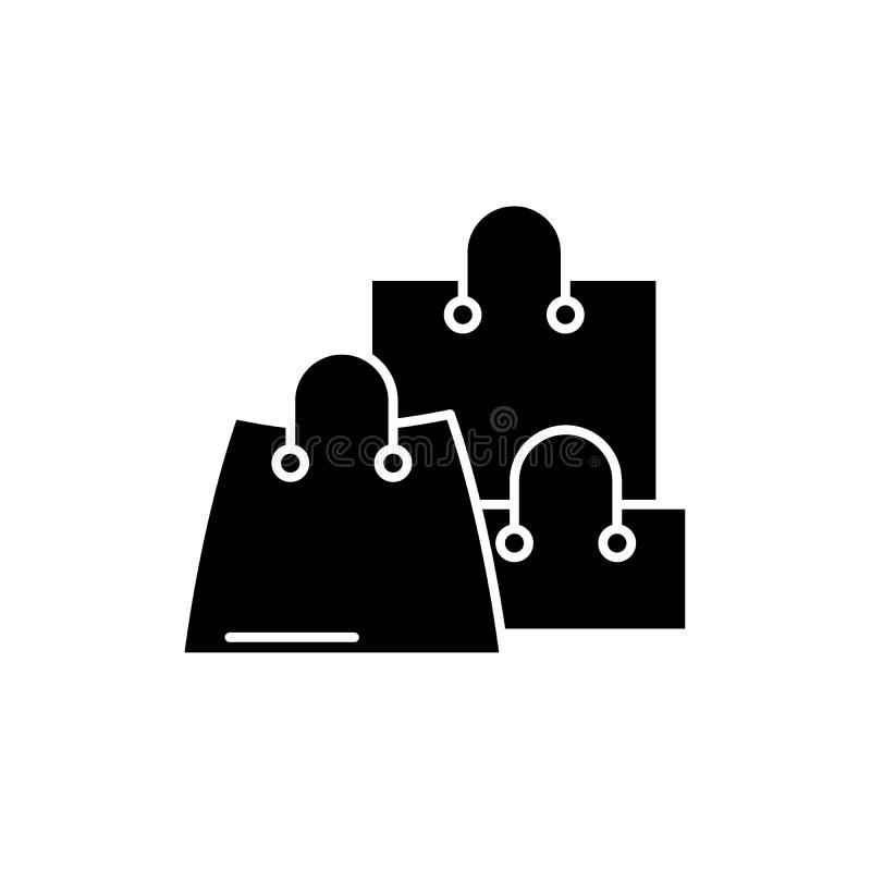 Online-försäljningar svärtar symbolen, vektortecken på isolerad bakgrund Online-försäljningsbegreppssymbol, illustration vektor illustrationer