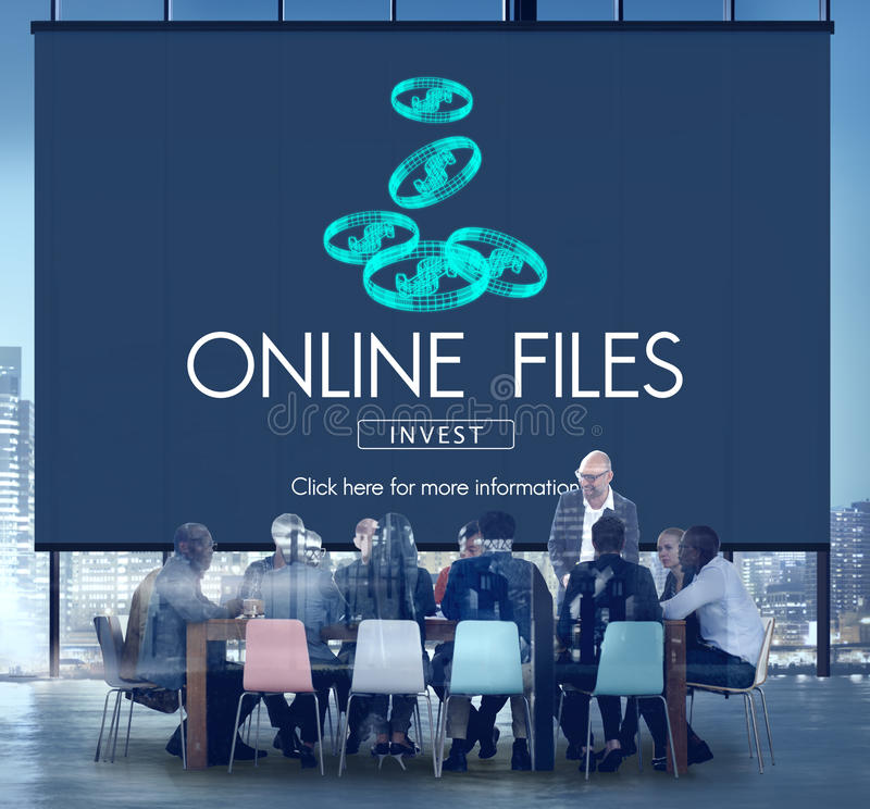 Online Files Streaming Computer Connection Concept royalty free stock photography