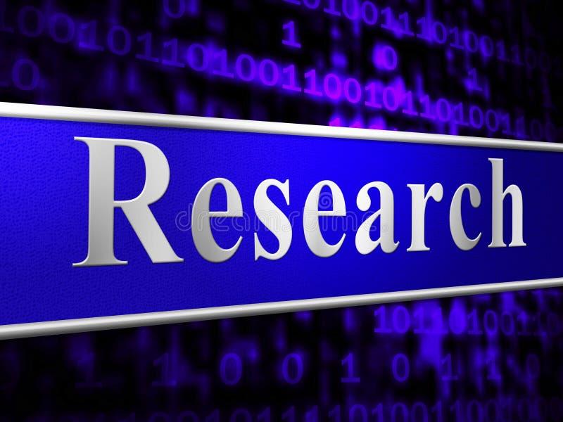 Online-forskning indikerar world wide web och analyserar stock illustrationer