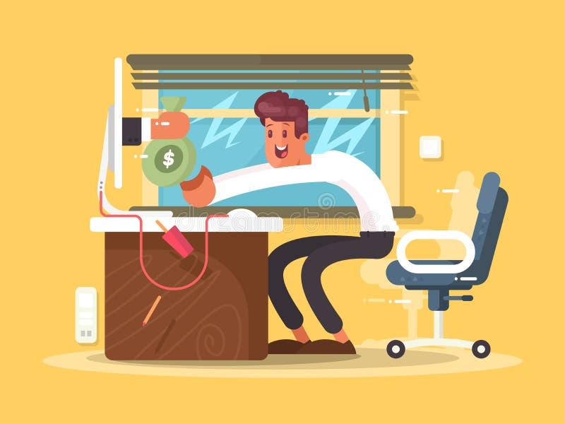 Online freelance inkomen royalty-vrije illustratie