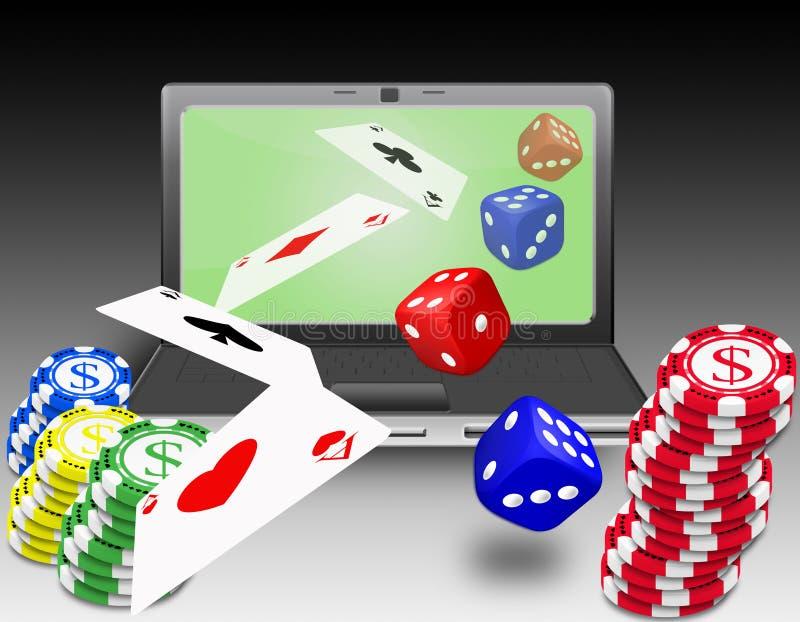 Online gambling royalty free illustration