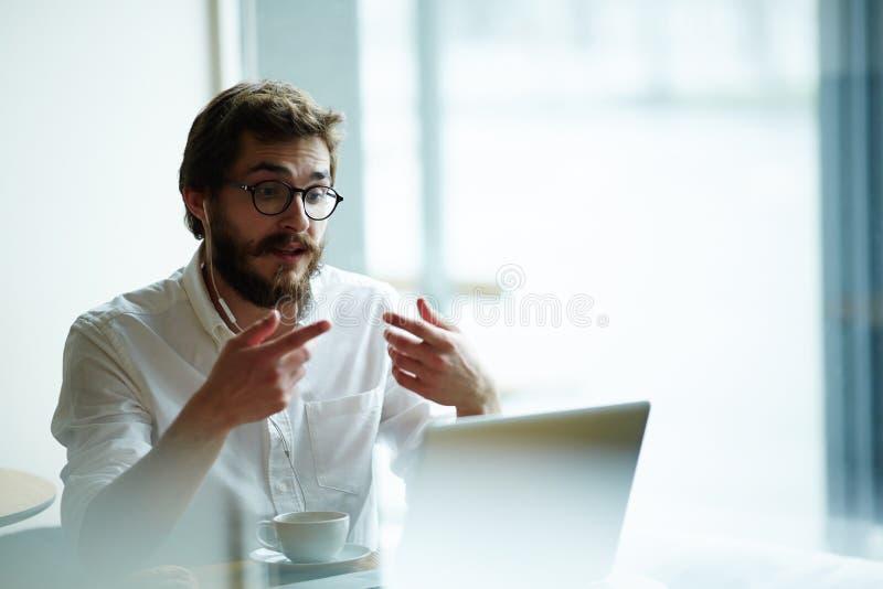 Online gesprek royalty-vrije stock afbeeldingen