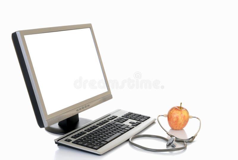 Online gezondheidszorg royalty-vrije stock afbeelding