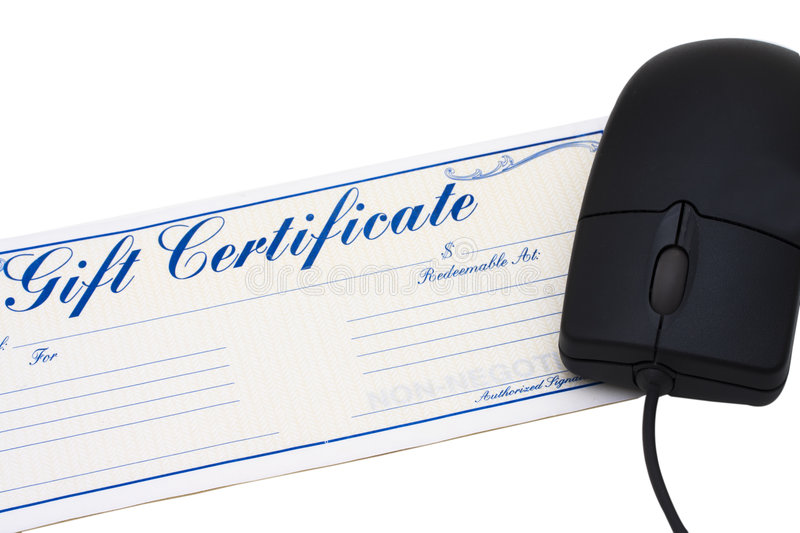 Download Online Gift Certificate stock photo. Image of give, empty - 4836464