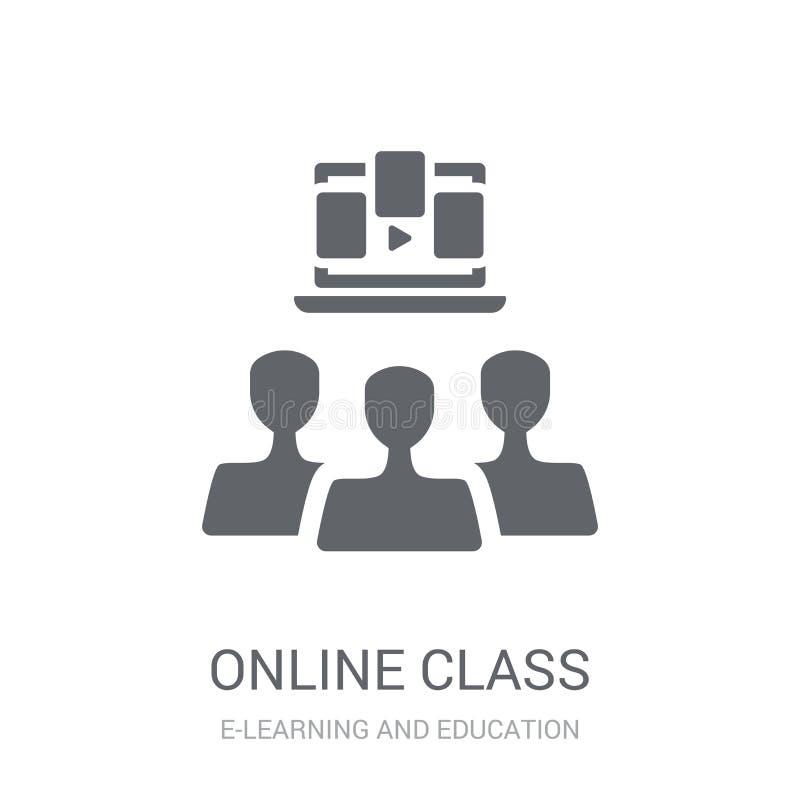 Online-gruppsymbol  stock illustrationer