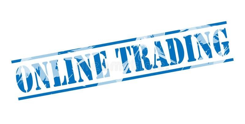 Online handlarski błękita znaczek ilustracja wektor