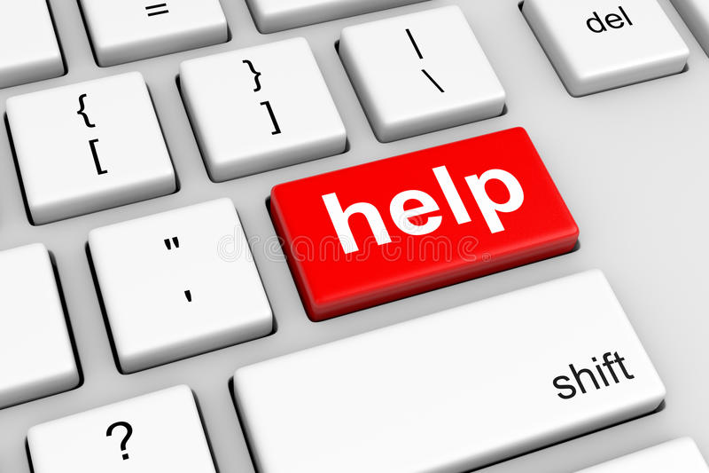 Online Help vector illustration
