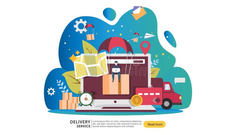 Online-hems?ndning E r stock illustrationer